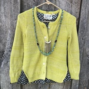 Anthropologie Field Flower cardigan sweater knit